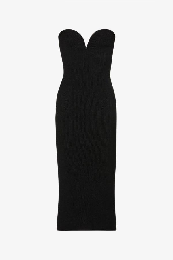 Image 1 of Galvan thalia stretch-woven midi dress