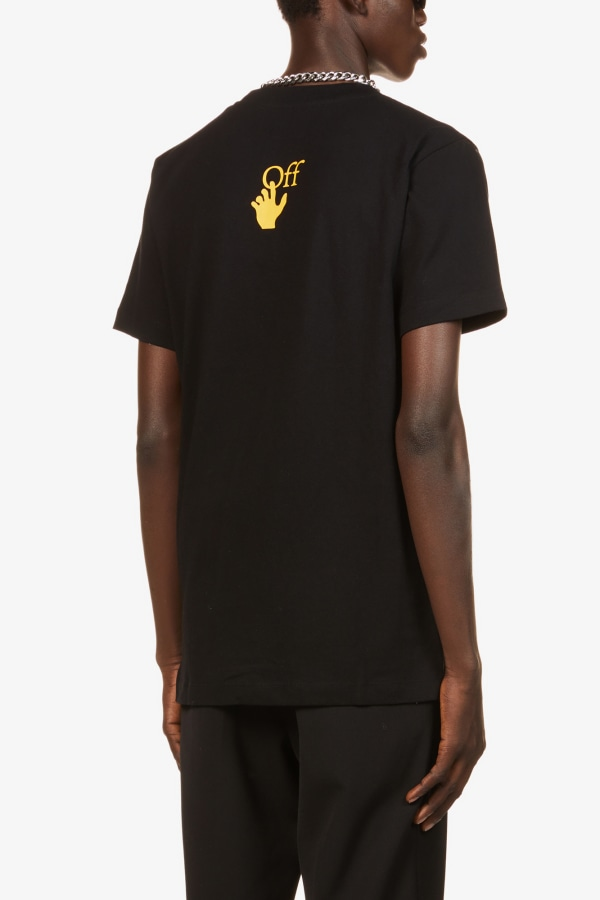 Image 3 of Off White C/O Virgil Abloh caravaggio graphic-print cotton-jersey t-shirt