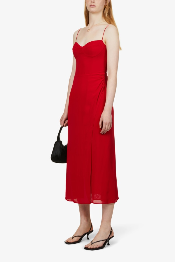 Image 3 of Reformation kourtney self-tie crepe midi dress