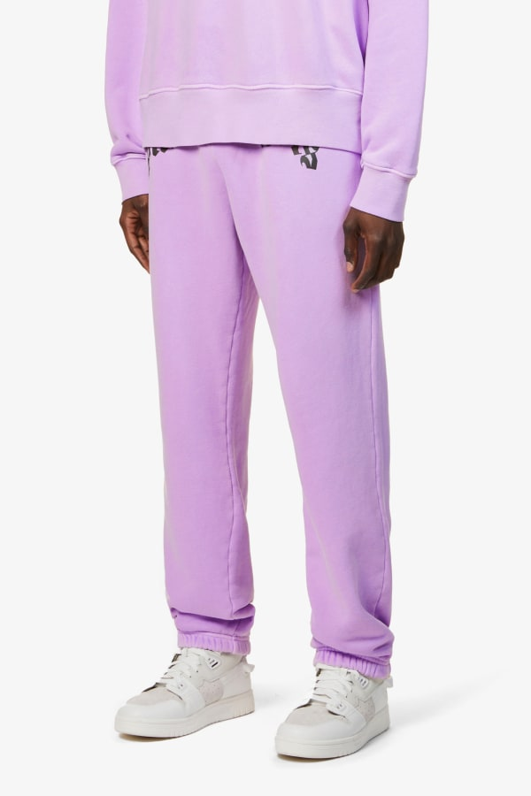 Image 2 of Palm Angels logo-print relaxed-fit cotton-jersey jogging bottoms