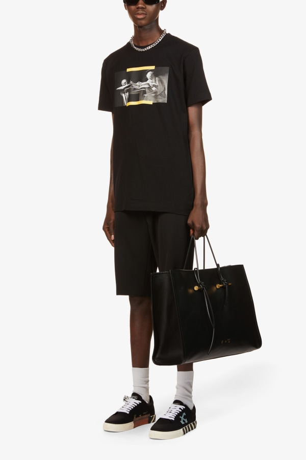 Image 4 of Off White C/O Virgil Abloh caravaggio graphic-print cotton-jersey t-shirt