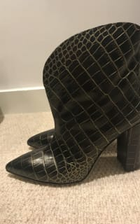 Paris Texas Crocodile Embossed Ankle Boots 3 Preview Images