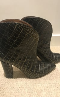 Paris Texas Crocodile Embossed Ankle Boots 4 Preview Images