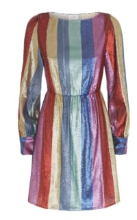 RIXO London Sequin rainbow dress Preview Images
