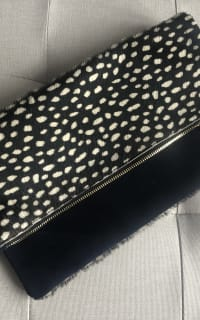 Clare V. hair calf fold over clutch 6 Preview Images