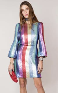 RIXO London Sequin rainbow dress 2 Preview Images