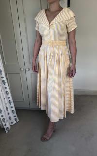 Gül Hürgel Striped cotton and linen-blend 3 Preview Images