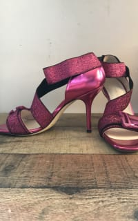 Christopher Kane Lurex Safety Buckle Sandal 5 Preview Images