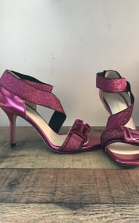 Christopher Kane Lurex Safety Buckle Sandal 4 Preview Images