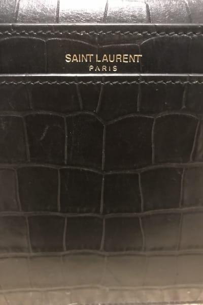 Saint Laurent Catherine Croc Crossbody Bag 3