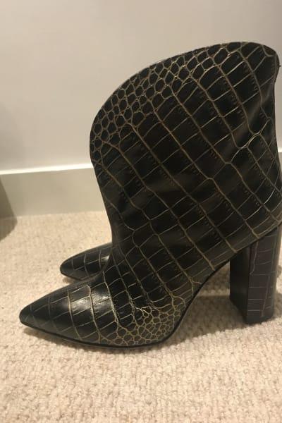 Paris Texas Crocodile Embossed Ankle Boots 3