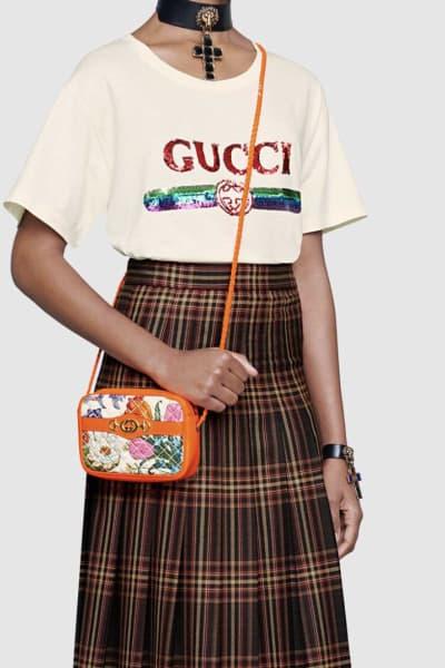 Gucci Log sequin T-shirt 2