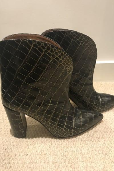 Paris Texas Crocodile Embossed Ankle Boots 4