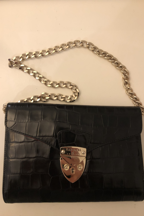 Aspinal of London Black Clutch Bag 2