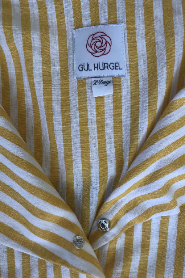 Gül Hürgel Striped cotton and linen-blend 5