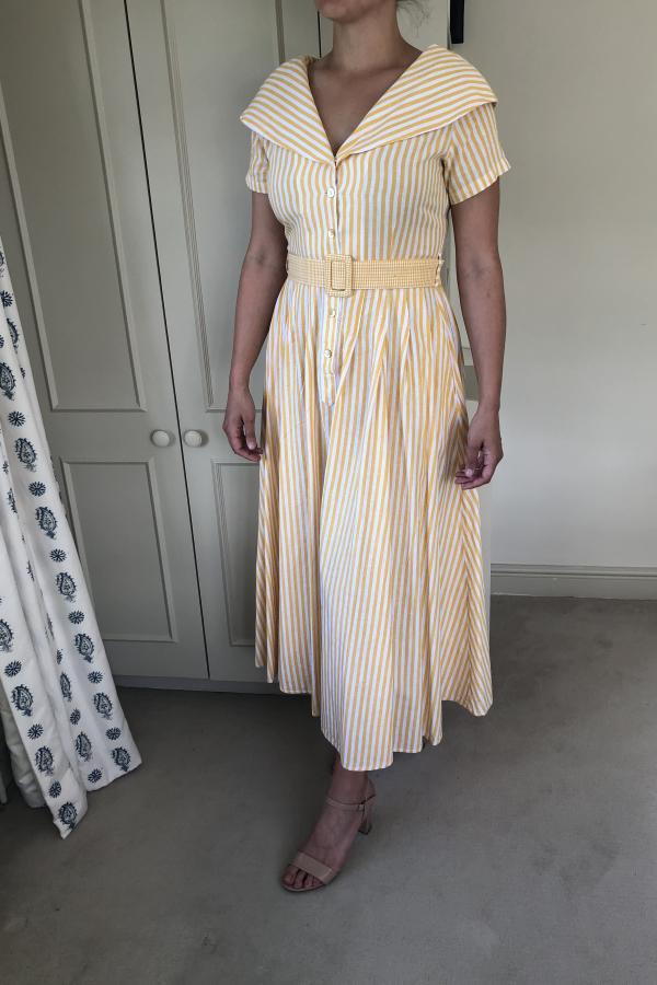 Gül Hürgel Striped cotton and linen-blend 3