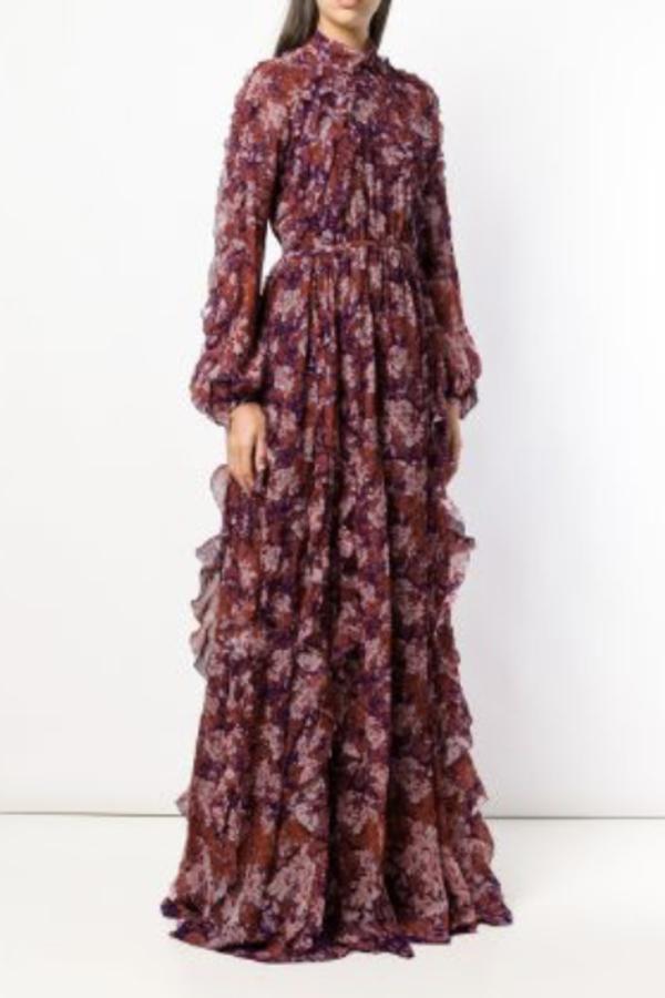 Giambattista Valli Floral Maxi silk dress 2