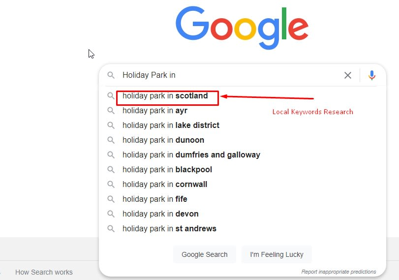 Find Local Keywords Research