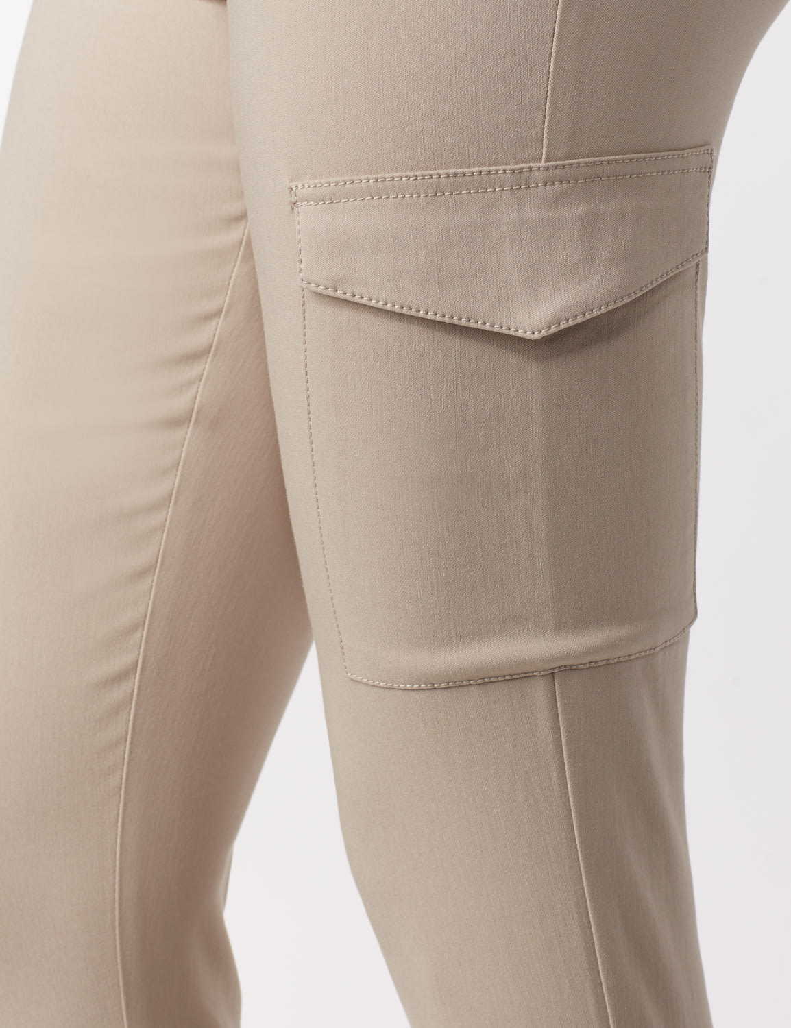 Skinny Cargo Pant - Neutral - Detail