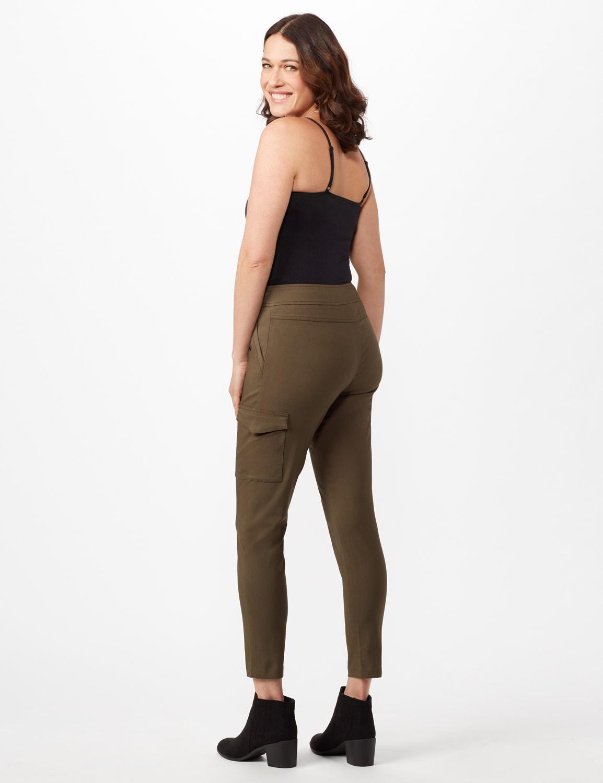 Skinny Cargo Pant - Olive - Back