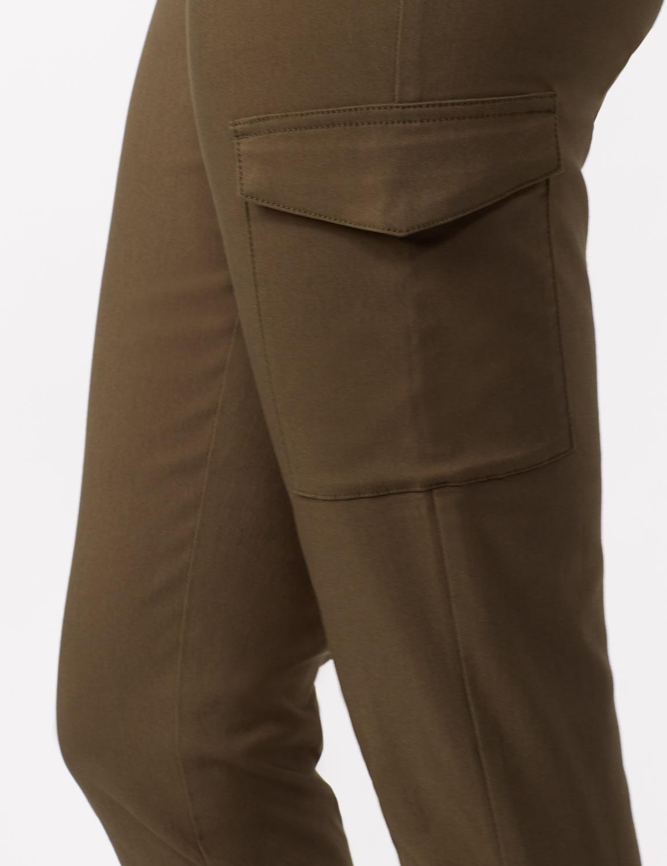 Skinny Cargo Pant - Olive - Detail