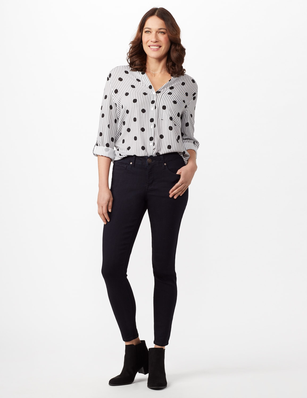 5 Pocket Goddess Fit Jeans - Dark Stone Wash - Front