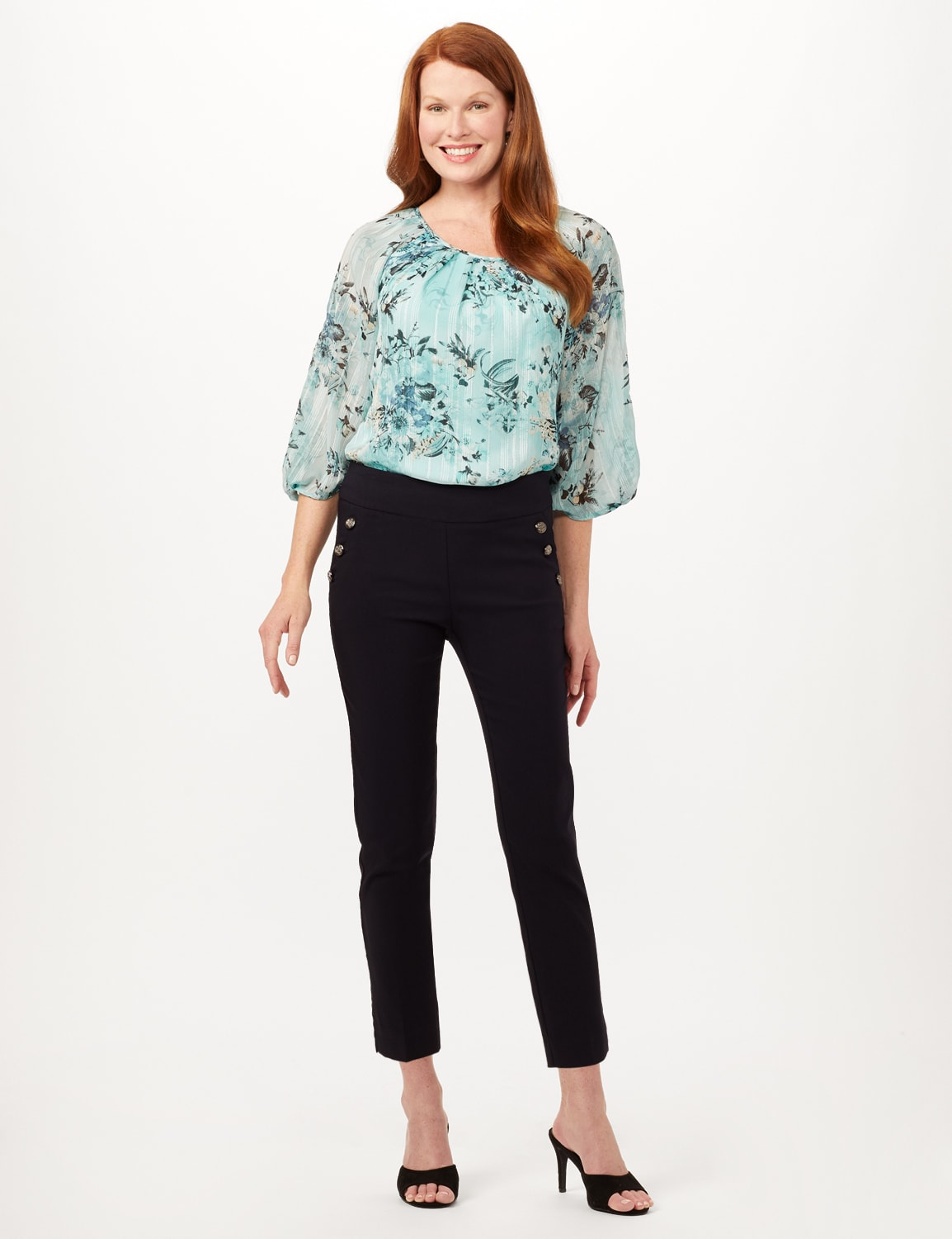 Pull-On Sailor Pants - Navy - Front