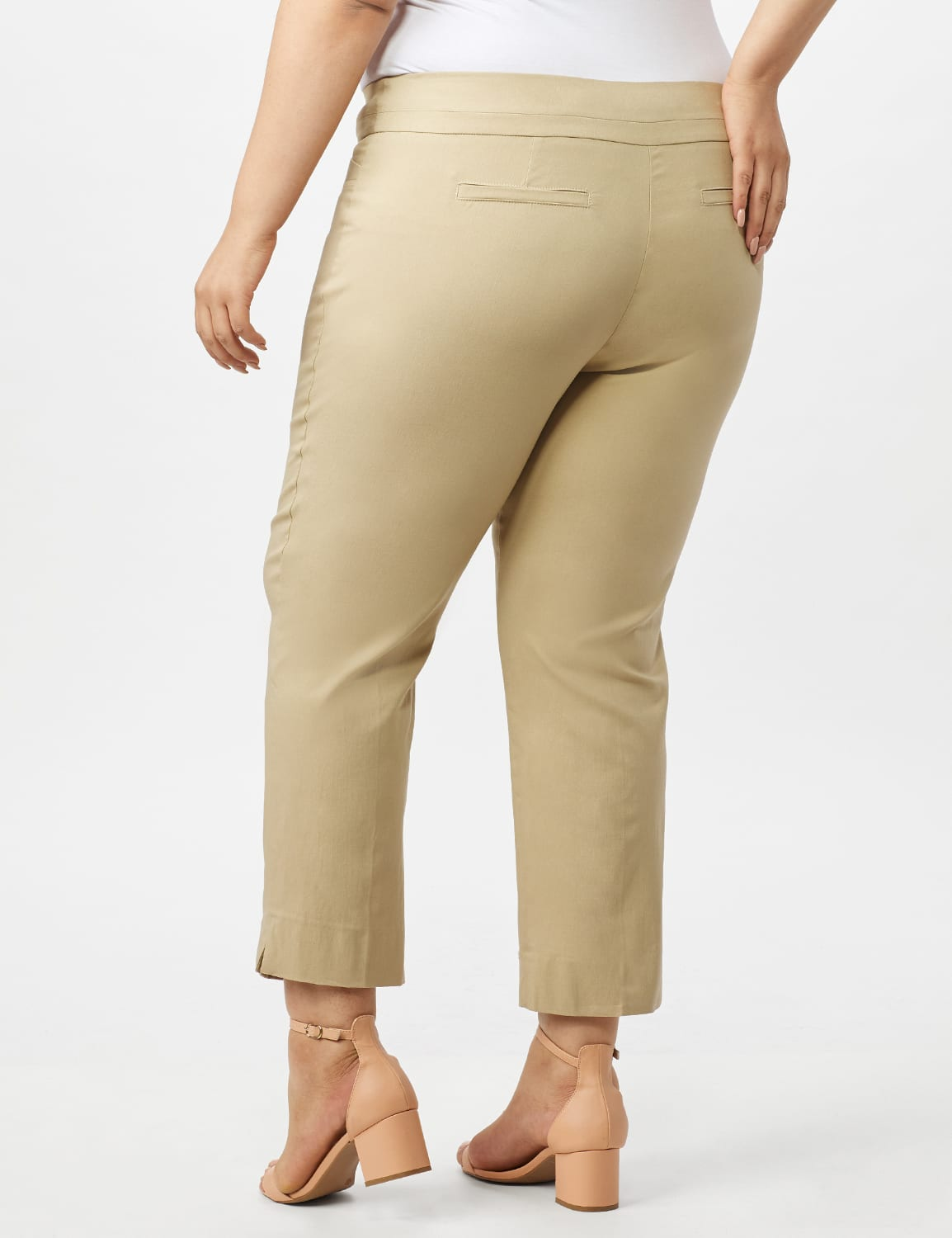 Plus - L-Pocket Pull-On Crop Pants - Chino - Back