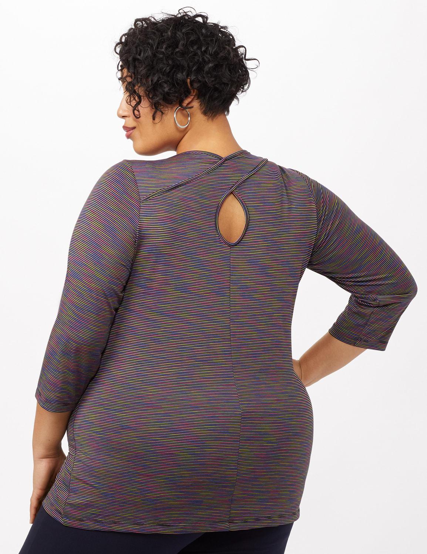 Space Dye Knit Tunic - Black - Back