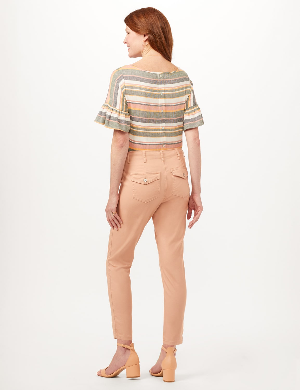 Cargo Pocket Slim Pants - Macaron - Back