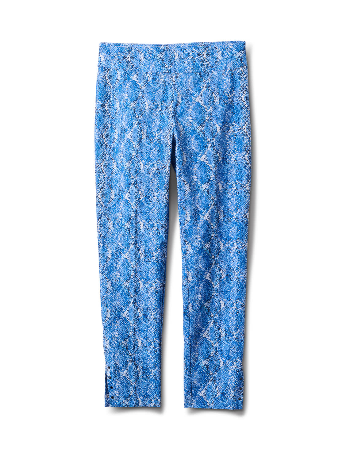 Printed  Superstretch Pull On Pants - Blue Snake - Front