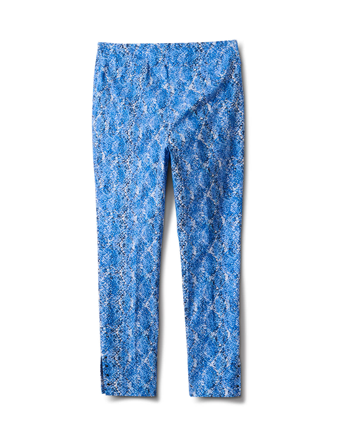 Printed  Superstretch Pull On Pants - Blue Snake - Back
