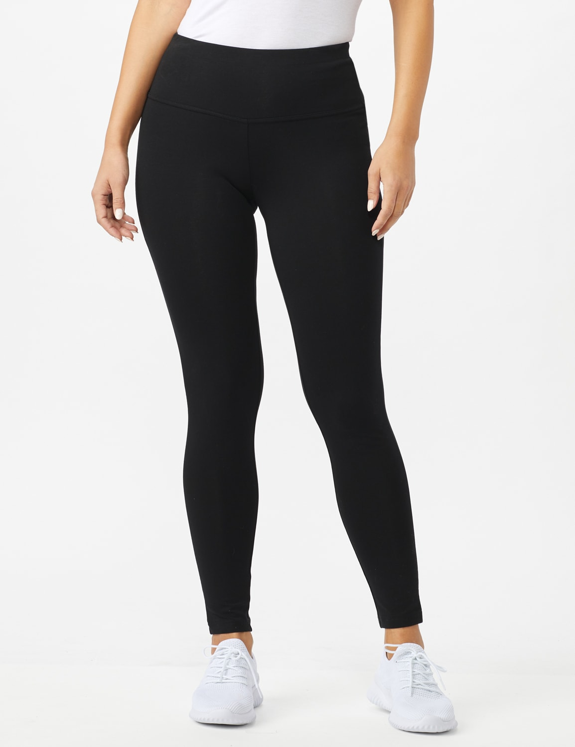 Tummy Control Legging - Black - Front