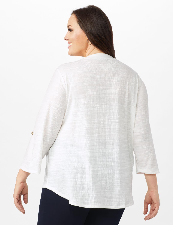 Bahama Breeze Button up Shirt - Ivory - Back