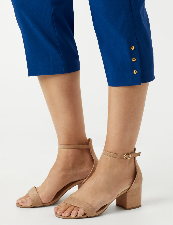 Pull On Crop Pants - Marine Blue - Detail