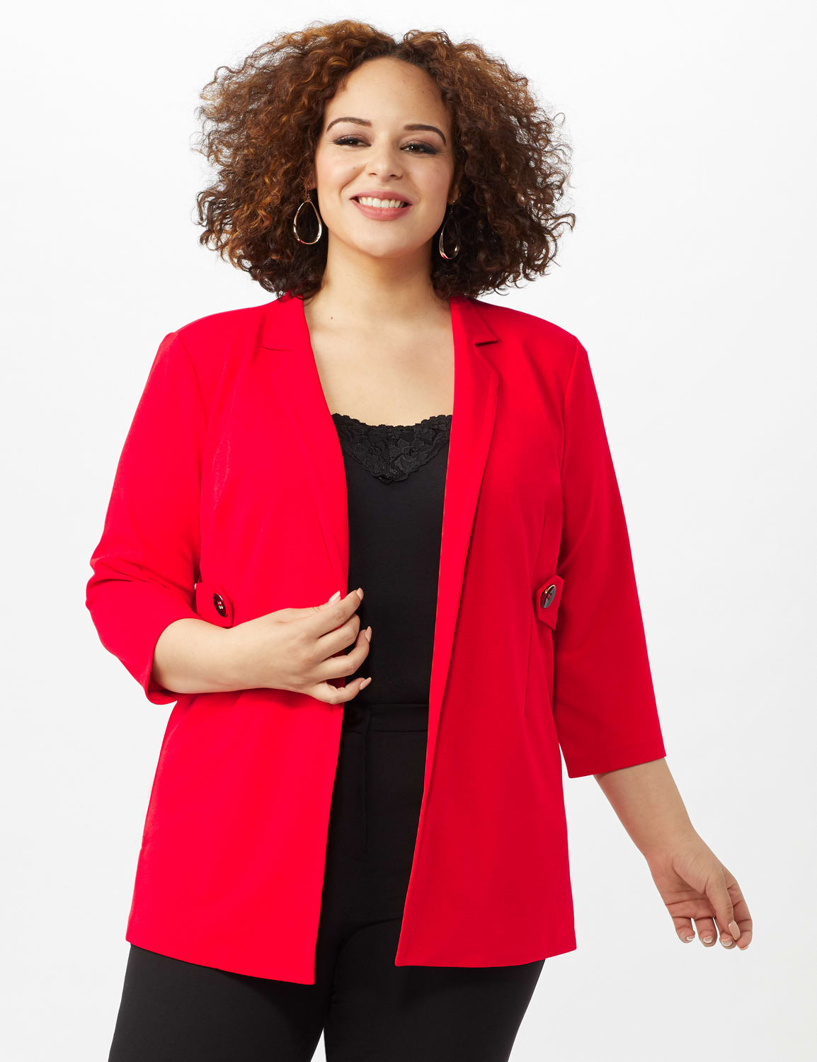 Collar - Less Notched Topper With Buttons Side Tabs - Infared - Front