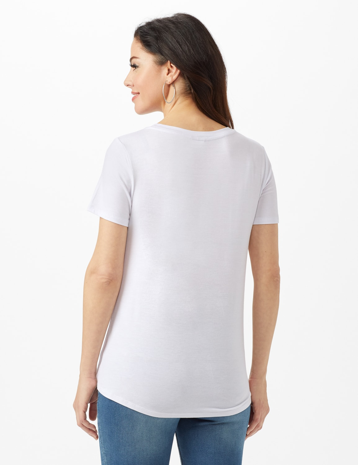 Addicted to Love  Tie Front Screen Tee - White - Back
