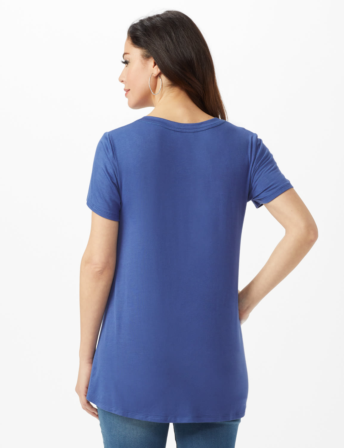 LOVE Hi-Lo Screen Tee - Misses - Indigo - Back