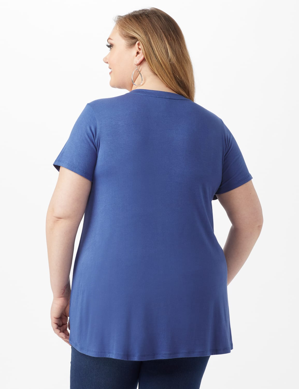 LOVE Hi-Lo Screen Tee - Plus - Indigo - Back