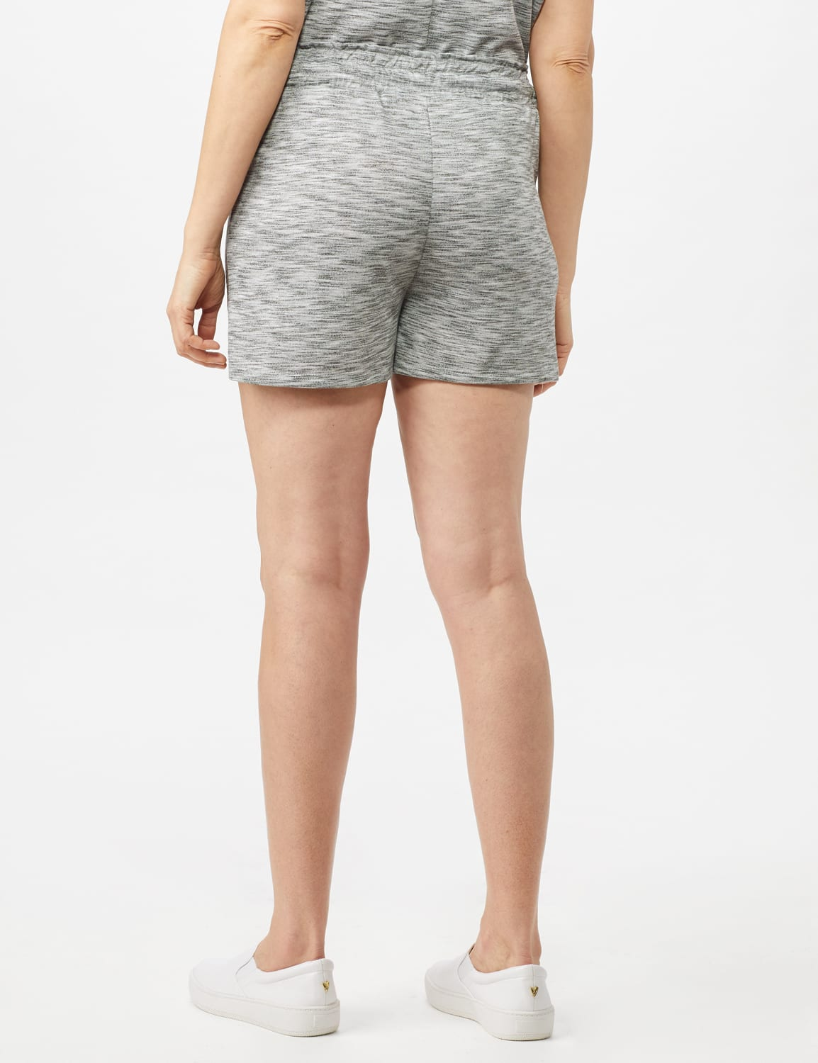 Space Dye French Terry Short - Grey - Back
