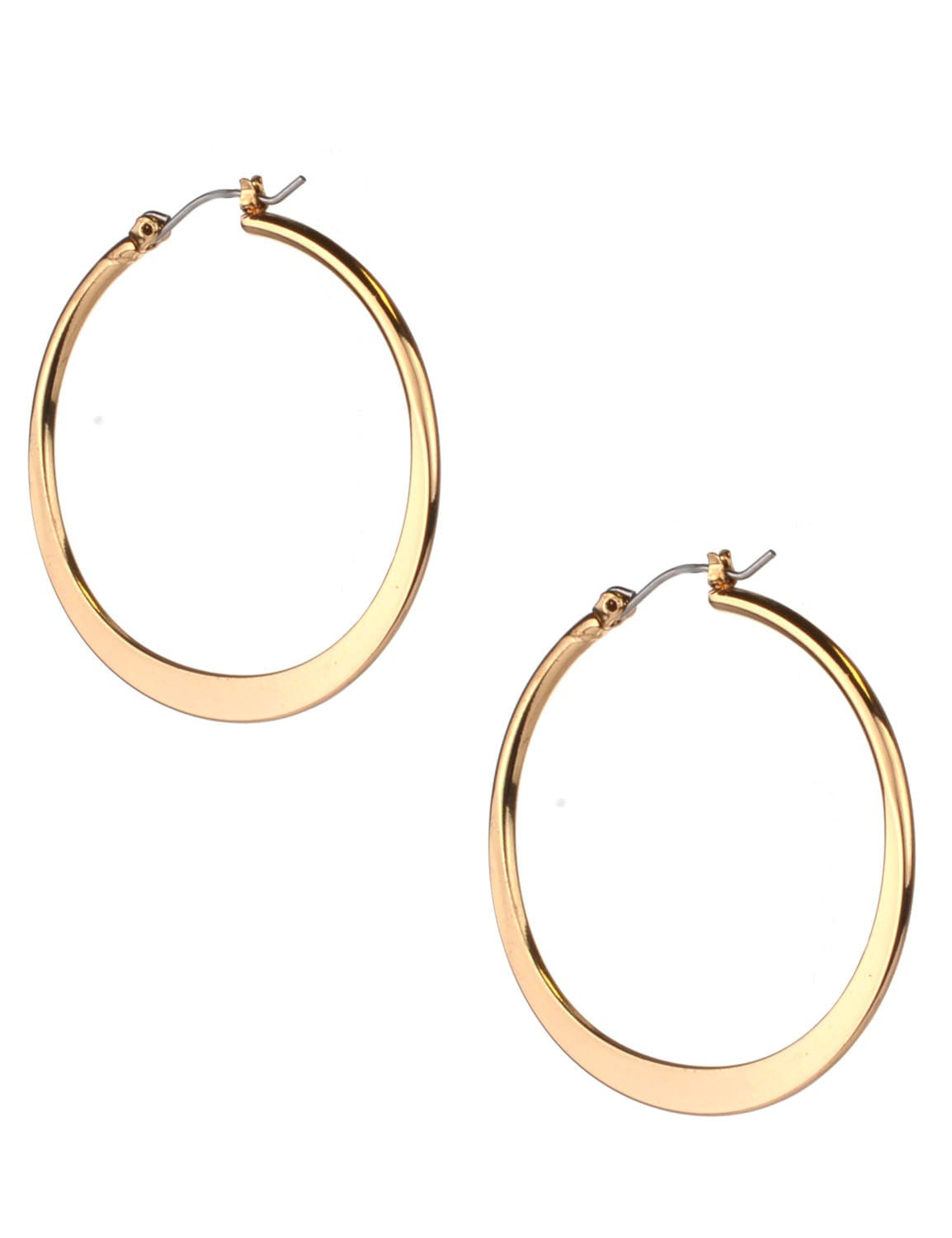 Small Round Click-It Hoop - Gold Plating - Back
