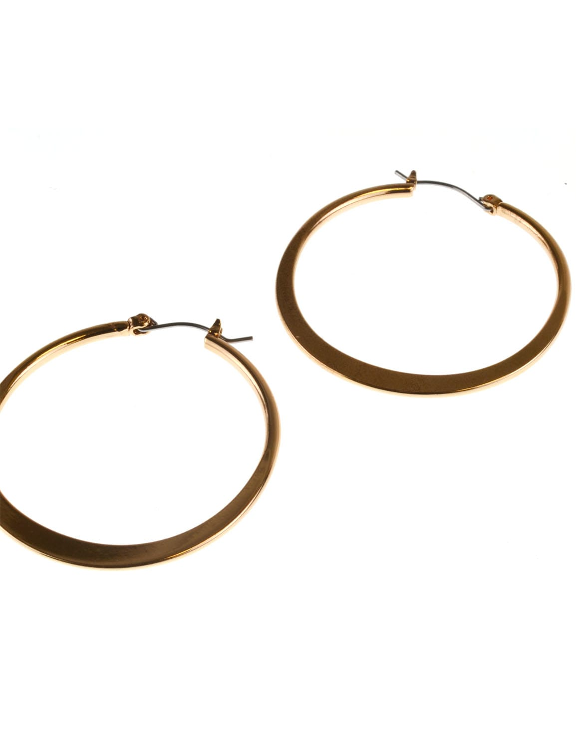 Small Round Click-It Hoop - Gold Plating - Detail