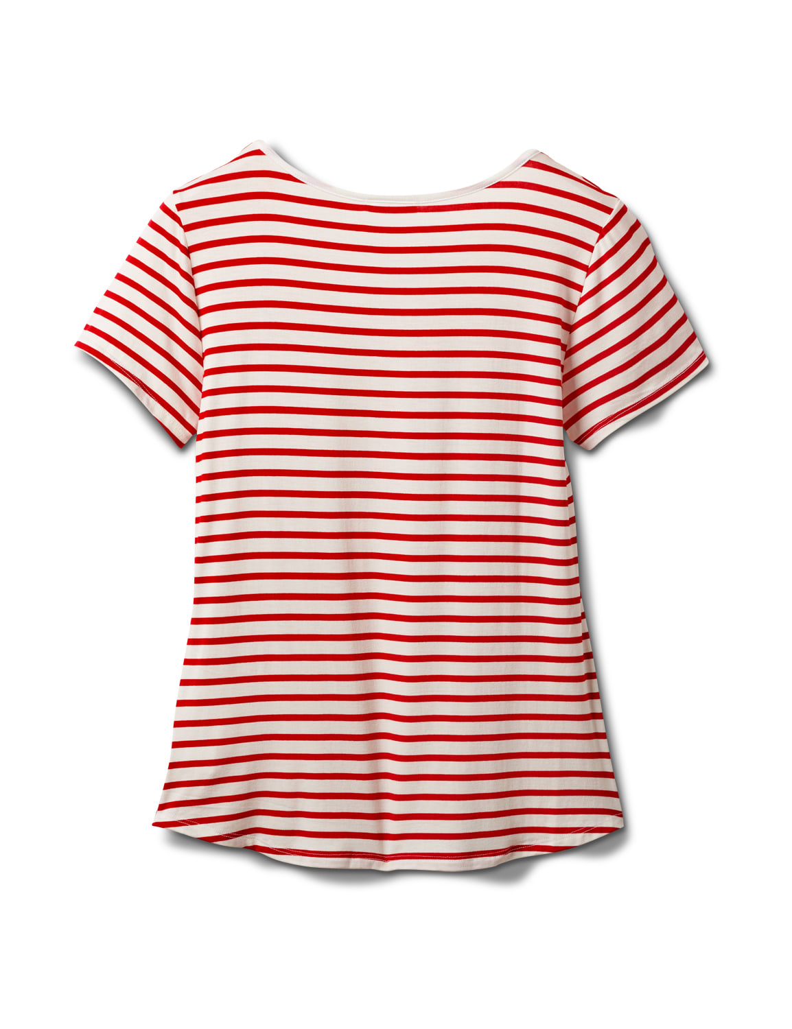 """America The Beautiful"" Stripe Rib Tee - Misses - Red - Back"