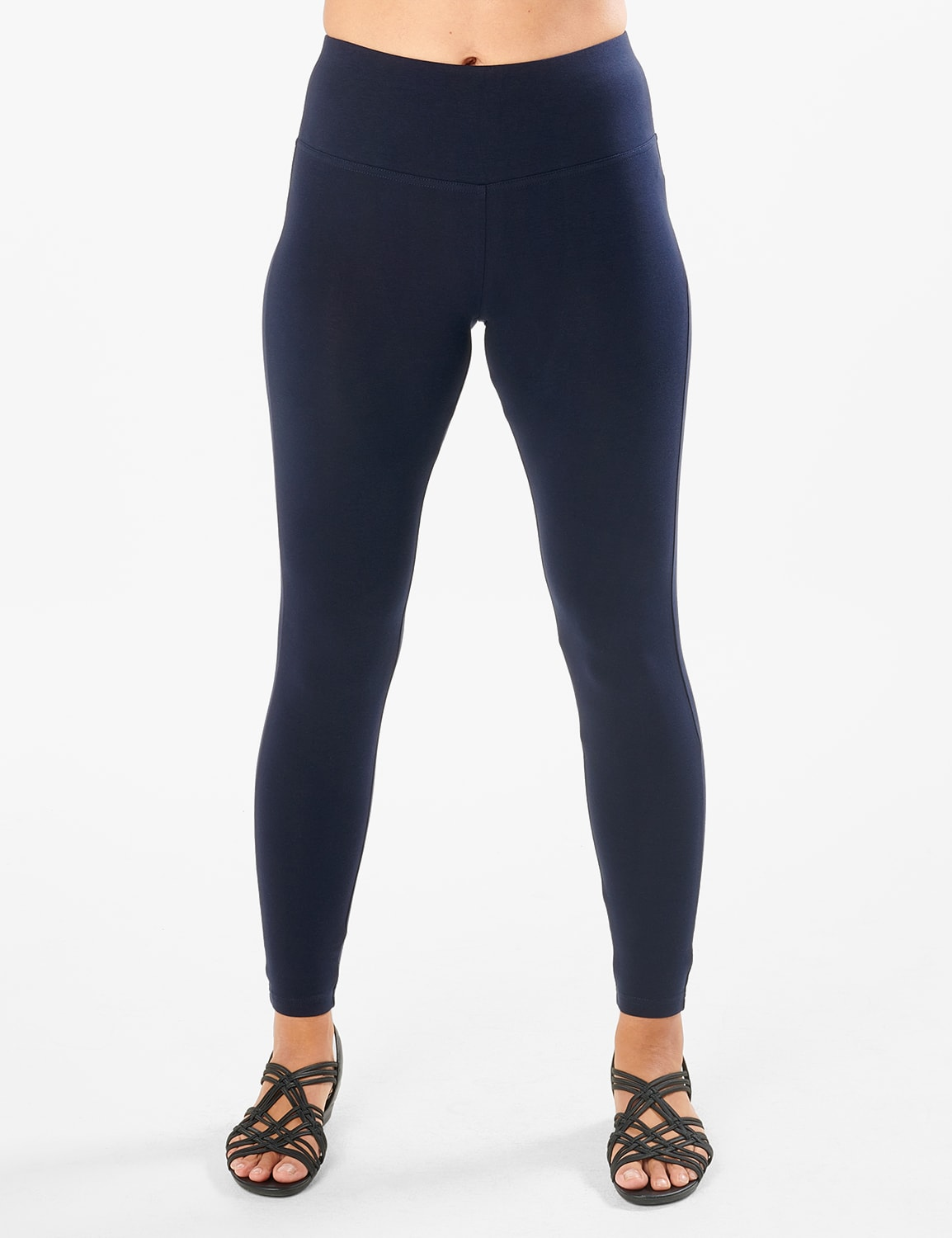 Tummy Control Legging - Navy - Front