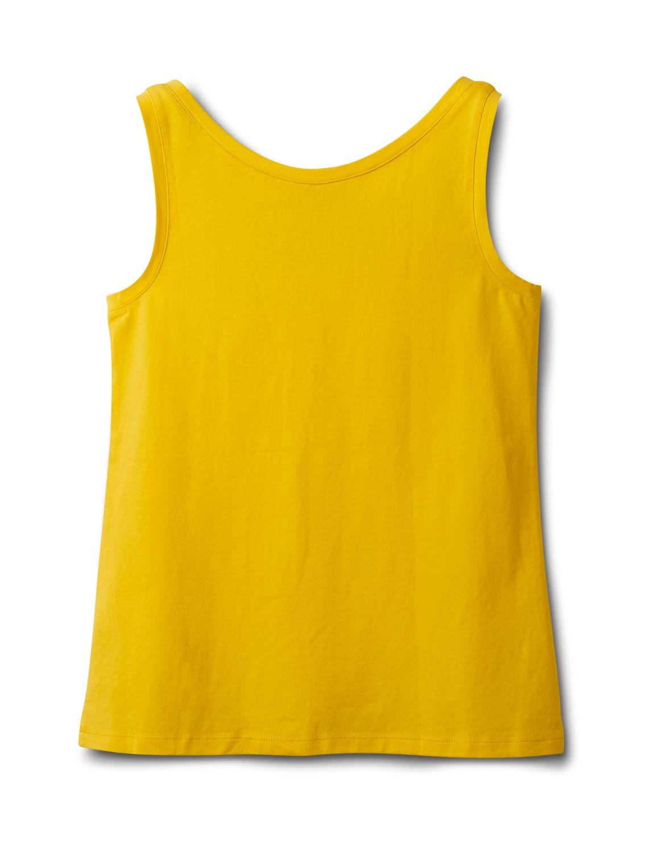 Studded Knit Tank - Gold - Back