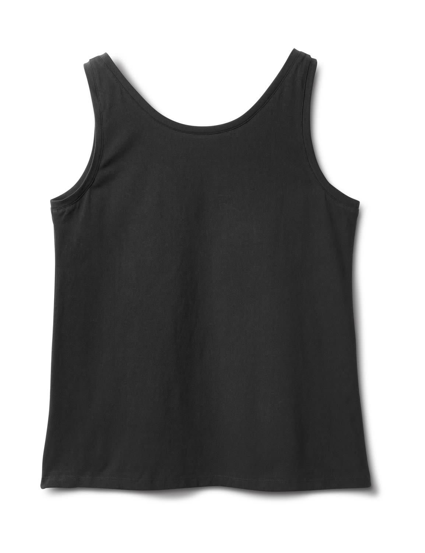 Studded Knit Tank - Plus - Black - Back