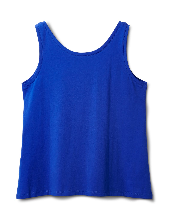 Studded Knit Tank - Plus - Royal Blue - Back