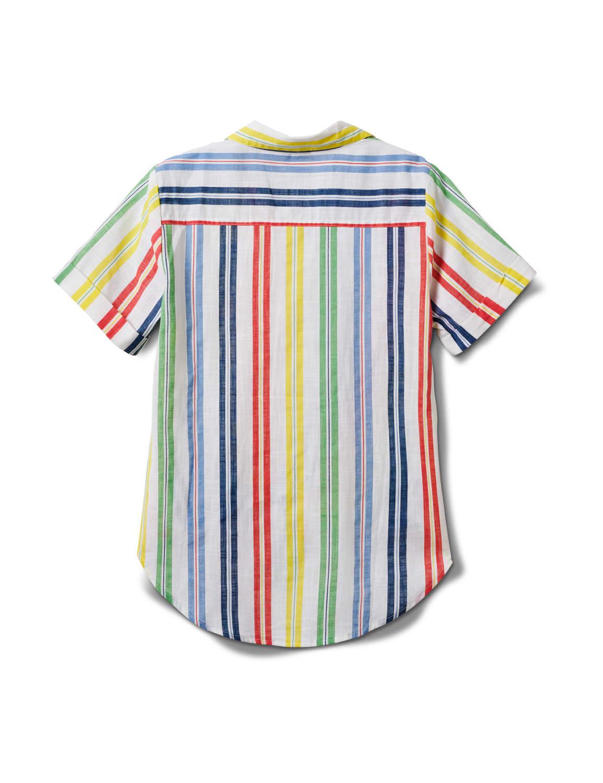 Multi Stripe Texture 1 Pocket Shirt - Misses - Multi - Back