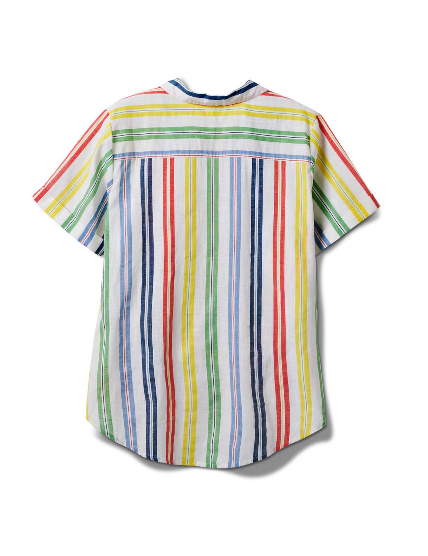 Multi Stripe Texture 1 Pocket Shirt - Plus - Multi - Front