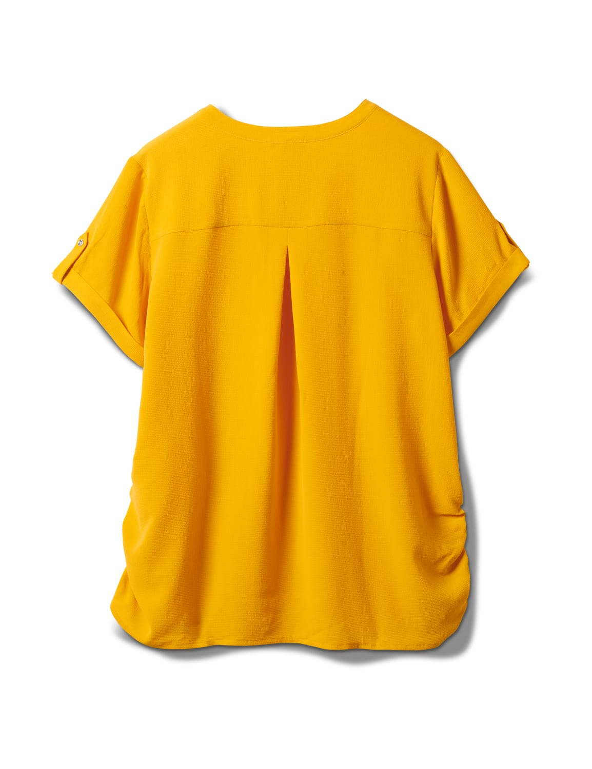 2 Pocket Side Tie  Woven Top - Gold - Back